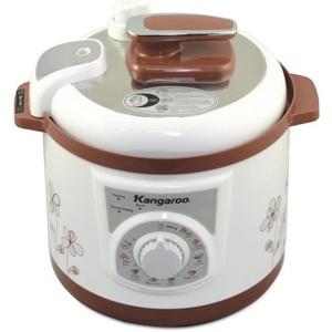 Nồi áp suất cơ Kangaroo KG136 ( 6 lít , 1000W, màu trắng nâu, 9 chức năng,có xửng hấp )