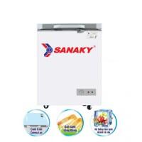 Tủ đông Sanaky 100L VH-1599HYKD(Dàn đồng,cánh kính cường lực,màu xanh ngọc)